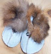 Possum Fur Baby Booties