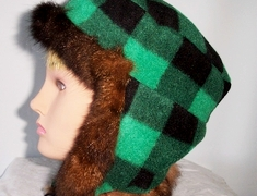 possum fur flap hat