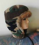 Possum Fur Flap Hat with fleece outer